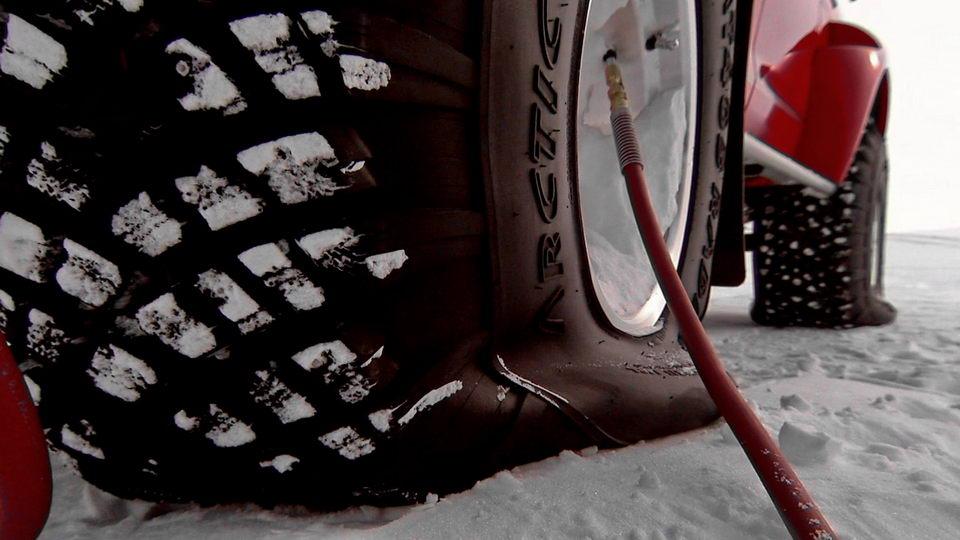 越野驾驶轮胎气压